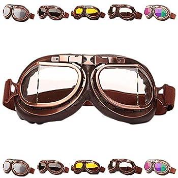 Peicees Vintage Helmet Goggles Motorcycle Goggles Bike Motorcross Pilot Goggle