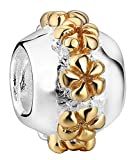 SaySure - 925 Sterling Silver Charm Flowers Charms European Bead -