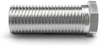 Hohlschraube für Siebkorbventile - universell passend für Ventil-Abläufe mit 1,5 und 3,5 Zoll - M12 x 1,5 mm - kurz - 25 mm lang