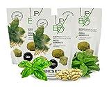 3 Confezioni di Biscotti salati al Pesto genovese, con Olio extravergine d'oliva, Senza Uova - 3 x 80g