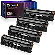 E-Z Ink (TM) Compatible Toner Cartridge Replacement for Canon 137 CRG 137 CRG137 9435B001AA to use with ImageClass D570 Printer (Black, 4 Pack)