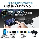サンワダイレクト モバイルプロジェクター HDMI バッテリー / スピーカー内蔵 軽量128g 静音 三脚対応 400-PRJ023
