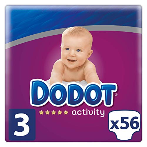 Dodot Activity Pañales Talla 3, 56 Pañales, 6-10kg