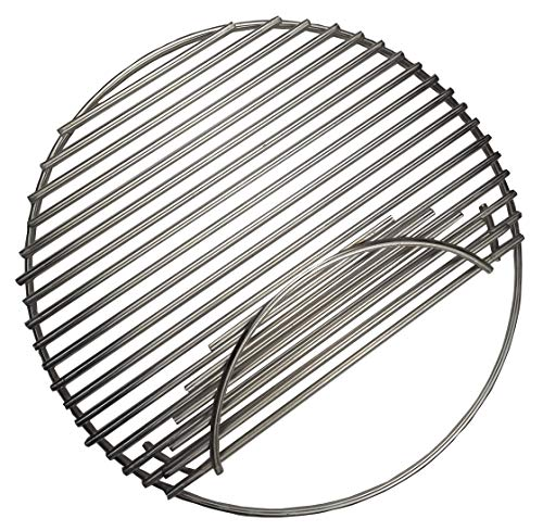 soldbbq 18 1/2' Dia, Stainless Steel Round Grid Single Side Hinged Cooking Grate Replacement for Large Big Green Egg, Char-Griller,Kamado Joe,Vision Grill VGKSS-CC2, B-11N1A1-Y2A Gas Grill