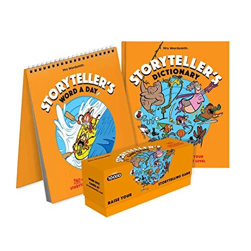 Storytellers Master Bundle: (Storyteller's Dictionary HB UK / Storytellers Word A Day /  Storytellers Cards Games)