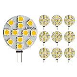 SEBSON LED Lampe G4 warmweiß 3W (2.5W), ersetzt 20W Glühlampe, 200lm, GU4 Stiftsockel 12V DC, Leuchtmittel 110°, 10er Pack