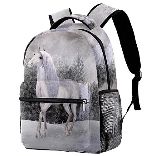 Mochila de unicornio y flor ardiente para viajes escolares, mochila para mujeres y hombres, fútbol de fútbol casual para trabajo portátil, Multi-16,