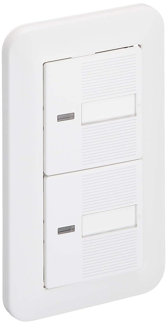予想する累積分注するパナソニック 埋込ほたるダブルスイッチB(片切) ホワイト パック商品 WTP50512WP