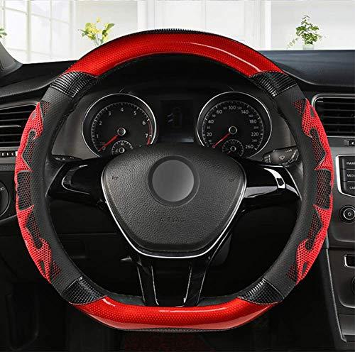 NFRADFM Coprivolante in Pelle Microfibra per Auto di Tipo D, per Mitsubishi ASX Outlander Lancer Pajero L200 Mirage Triton Attrage Ricambi Auto