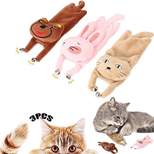 Catnip De Almohada para Gatos 3 Piezas Hierba Gatera Empleo De Gatos Hierba Gatera Interactiva con Un Pequeño Juego De Limpieza De Dientes Masticables De Campana Apto para Todos Los Gatos y Gatitos