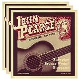 John Pearse Acoustic Strings Phosphor Bronze Bluegrass 12-56 (3 Pack)