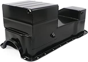 Assault Racing Products A9448PBK for Ford 351W Black Drag Style 7qt Oil Pan Dual Sump