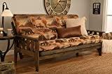 Kodiak Furniture Tucson Full Size Futon Frame, Rustic Walnut