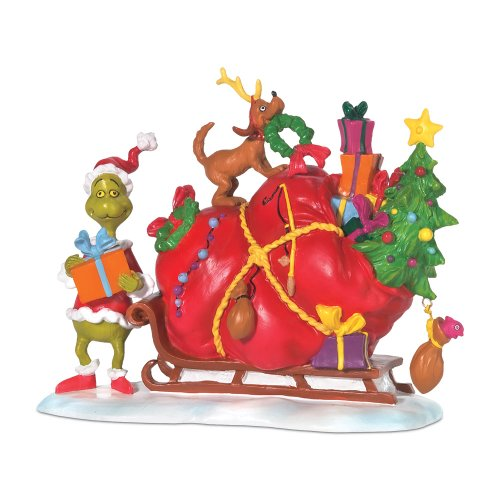 Department 56 Grinch Villages Small Heart Grew Accessory Figurine, 3.75 inch