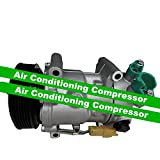 GOWE Compresor de aire acondicionado para coche Citroen C3 C4 Puegeot 207 307 308 6453QJ/6453QK/6453WK 6453WL/9651910980 71216280 9659875780