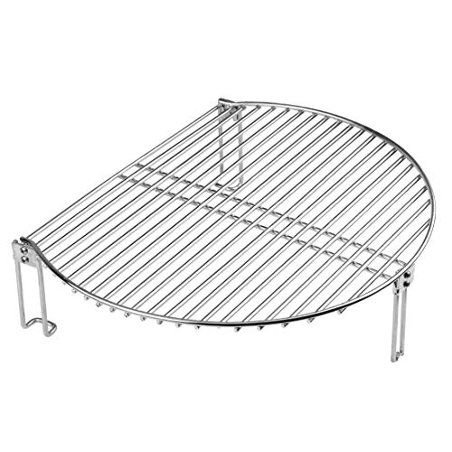 """Dracarys Grill Stack Rack for Big Green Egg Stainless Steel BBQ Lover Gifts Fit Large & XL Big Green Egg, Kamado Joe,18"""" or Bigger Diameter Grill,Increase Grilling Surface"""