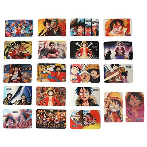CoolChange One Piece Aufkleber in Sammelkarten Form, 20 Sticker