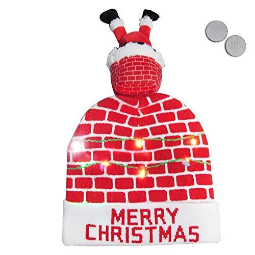 Gorros De Punto Niño Para Mujer Hombre Con Pompon Invierno Sombrero De Navidad Nuevo Sombrero Creativo De Lana Con...