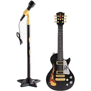 ZUJI Guitarra Electrónica Juguete con Karaoke Micrófono ...