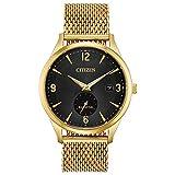 Citizen Men's Drive Quartz Watch with Stainless Steel Strap, Gold, 20 (Model: BV1112-56E)