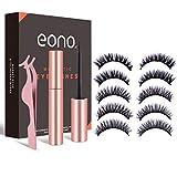 Eono by Amazon - Magnetisches Wimpern- und Eyeliner-Set, 5 Paar magnetische falsche Wimpern und wasserfester Eyeliner, Wiederverwendbares, Wasserdicht …
