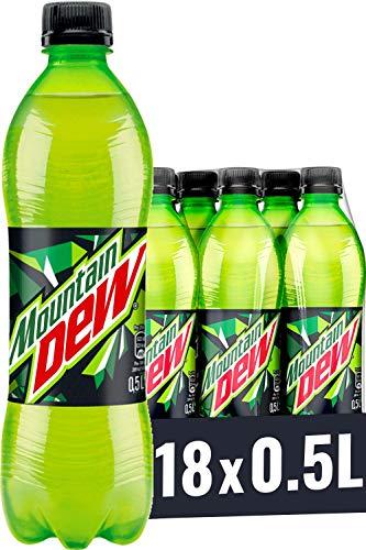Mountain Dew Regular, Koffeinhaltige Limonade mit Lemon-Lime-Geschmack, das Kultgetränk aus den USA (18 x 0,5 l)