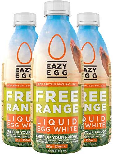 Eazy Egg by Dr Zaks Free Range Liquid Egg Whites 3 x 970ml Bottle Eggs...