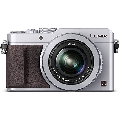 Panasonic LUMIX LX100 Integrated Leica DC Lens Silver Camera with Advanced Controls - (Renewed)