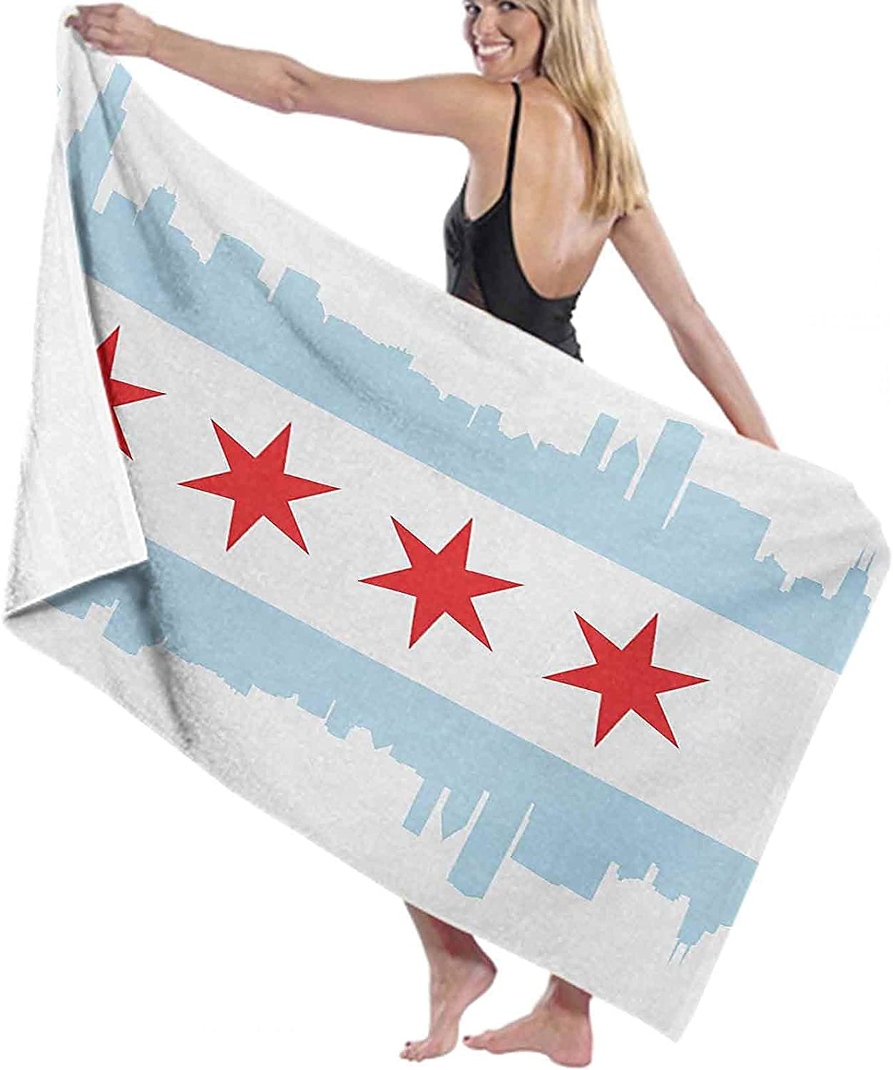 Chicago Max 59% OFF Skyline Bath Towel Lightweight Chic City of Quick-Dring New Free Shipping