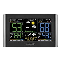 Dynamic forecast icons with tendency arrows Temperature & humidity (hi/lo) customizable alerts Comfort level color bar Adjustable backlight.Sensor dimension: 1.57 L x 0.79 W x 5.12 H inches Self setting accurate atomic time and date with automatic da...