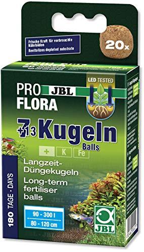 JBL Die 7 + 13 Kugeln 20111, Wurzeldünger für Süßwasser-Aquarien, 20 Kugeln