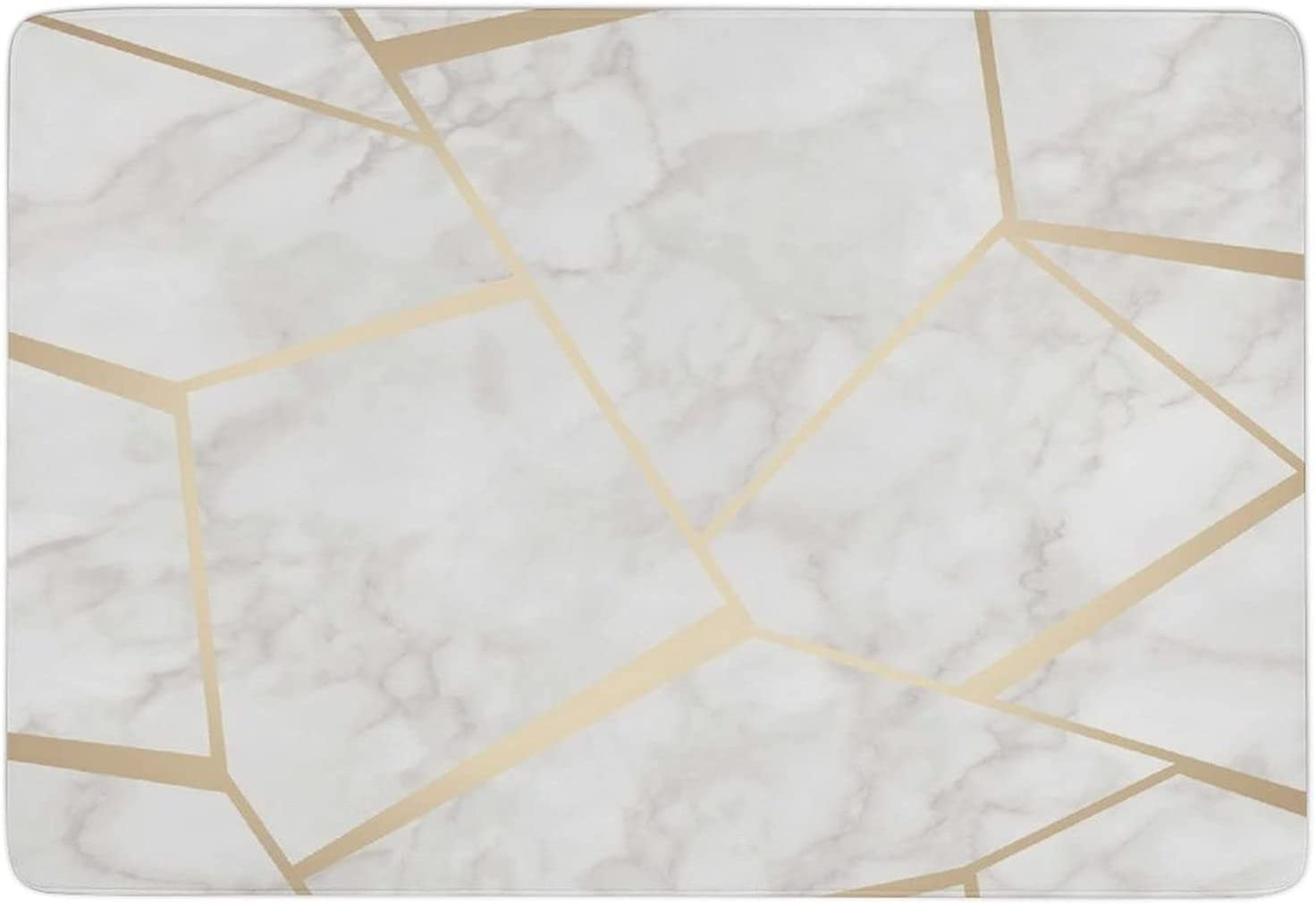 discount Grey and Gold Fort Worth Mall Marble Carpets-Indoor Durable Non-Slip Rugs Runner
