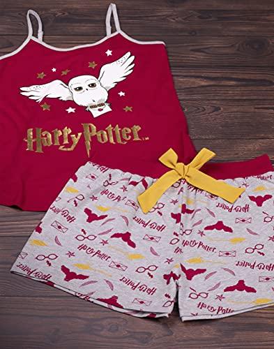 HARRY POTTER Pijamas Mujeres Adultos Hedwig Chaleco y Shorts Loungewear