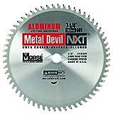 MK Morse CSM72560NAC Metal Devil Circular Saw Blade, Aluminum Application, 7-1/4-Inch Diameter, 60 TPI, 5/8-Inch Arbor