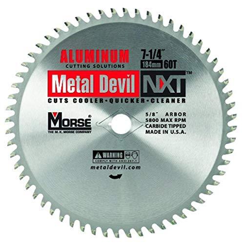 MK Morse CSM72560NAC Metal Devil Circular Saw Blade, Aluminum Application, 7-1/4-Inch Diameter, 60...