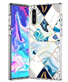 SPEVERT Case for Galaxy Note 10 Case Marble Pattern Hybrid Hard Back Soft TPU Raised Edge Shock Absorption Slim Protective Case Cover for Samsung Galaxy Note 10 - Geometry