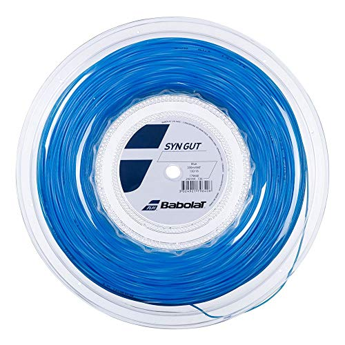 Babolat Synthetic Gut - SYN Gut - Tennis String - Blue - 1.30mm/16G - 200m (660ft) Reel