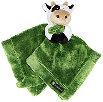 John Deere Baby Cuddle Snuggle Security Blanket Boy Girl Farm Animal Cow Pig Chick GREEN