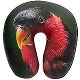 Autisum Almohadas De Viaje,Almohada De Cuello En Forma De U,Cojin Cervical,Parrot Beak Macro Birds Almohada De Vuelo para Coche para Descansar,Cabeza Relájese Almohada En Forma De U