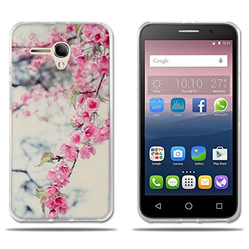 fubaoda Funda Alcatel Pop 3(5.5) 3G Carcasa Protectora Dise?o de Flores de Colores Vivos,Resiste a los Ara?azos,Carcasa Completamente Resistente para Alcatel Pop 3(5.5) 3G