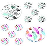 Dexcom Adhesive Mix Whales & Feather Design Adhesive Patches with Split Backing, Easy to Apply x 10 Pack