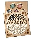 Lamare Set Minerales 7 CHAKRAS en caja madera (Flores)
