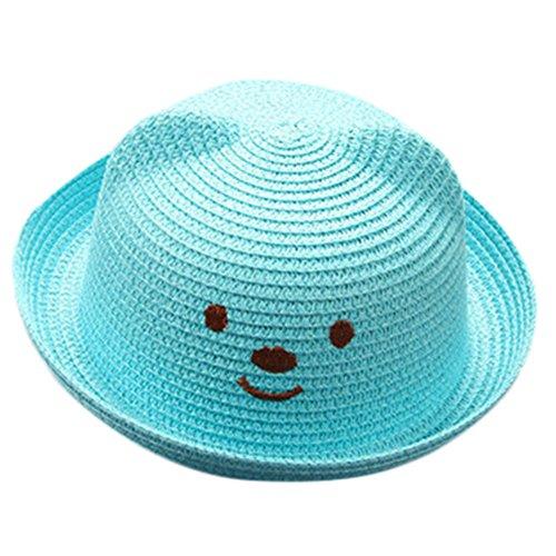 FRAUIT baby parapluuts zonwering hoed karikatuur hoed strohoed zonnehoed jazz hoed strandhoed kinderen zomerhoed panamahut jongen meisjes