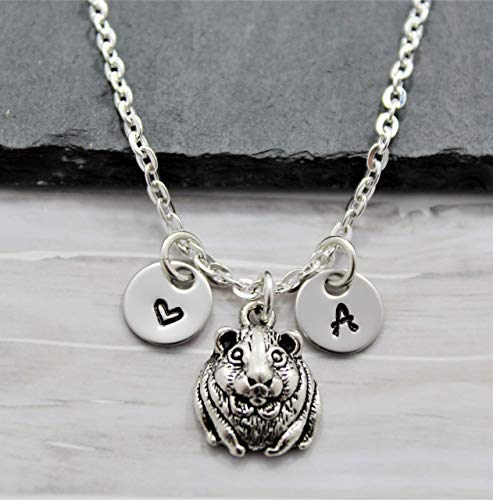 Hamster Necklace - Personalized Initial