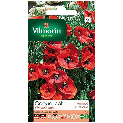 Vilmorin - Sachet graines Coquelicot simple rouge