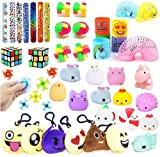 Party Favors For Kids Toy Assortment Bundle,Mochi Squishies,Puzzles,Finger Gyro Spiral Twister Toys For Birthday Party,Classroom Rewards,Carnival Prizes,Pinata Filler,Treasure Box,Goodie Bag Filler