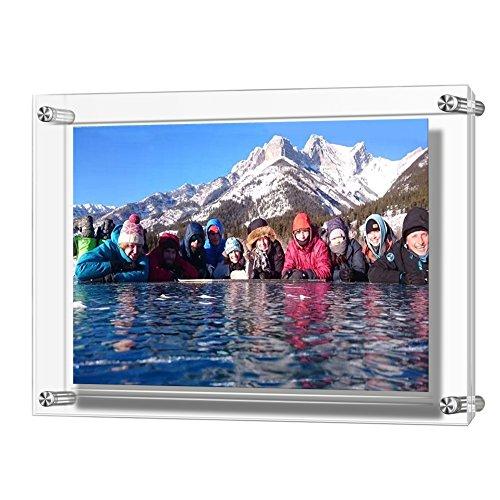 Boxalls Acryl Wand hängen Bilderrahmen, hält größte Bilder, 3 mm + 3 mm Dicke klar (A4)