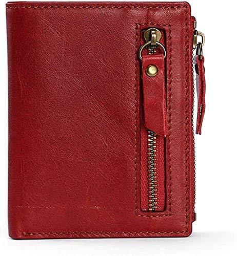 Monedero, bolso de embrague, monedero de cartas, carteras de tarjetas de crédito, protector de tarjetas Modelo de manga cartera de aceite cera de cera de cuero de cera de cuero RFID Bloqueo de RFID Mu