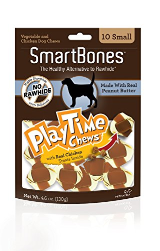 Smart Bones Play Time Peanut Butter Dog Chew, Small, 10 pieces/pack