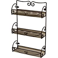 DecoBros 3 Tier Wall Mounted Spice Rack (Bronze)